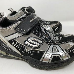 Skechers Toddler Airators Silver/Black Sz 13